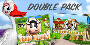 Double Pack Farm Frenzy and Virtual Farm
