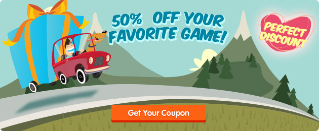 Get 50% off your favorite game on GameHouse!