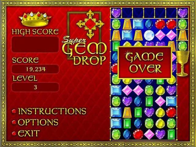 super gem drop game