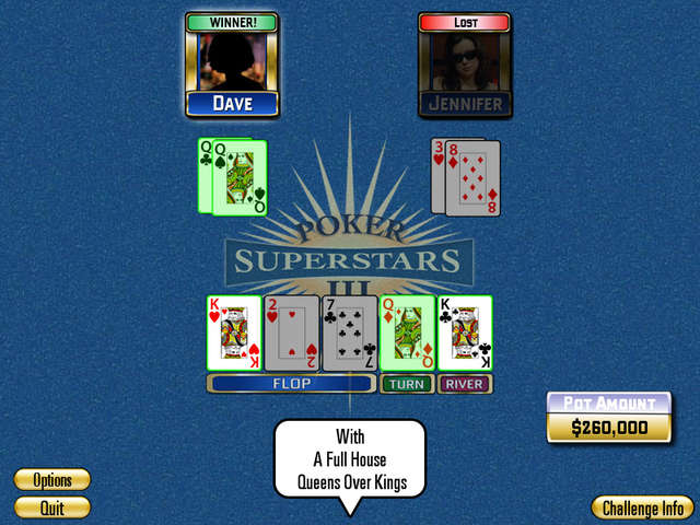 Play Poker Superstars 3 - Gold Chip Challenge