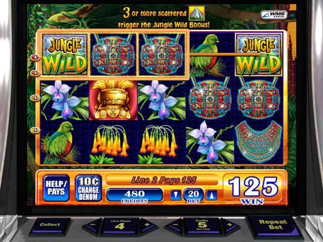 Jungle Warrior Slot Machine - Play WMS Casino Games Online