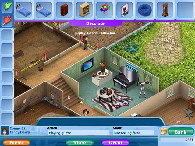 Virtual families 2 our dream house free download full for Virtual house walkthrough