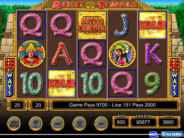 Play IGT Slots Aztec Temple
