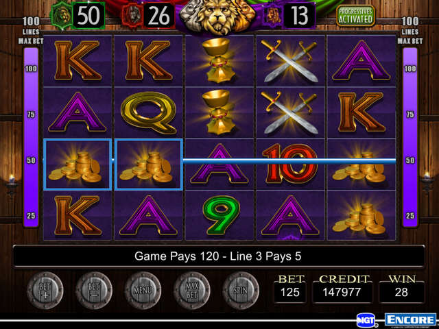 three kings video slots
