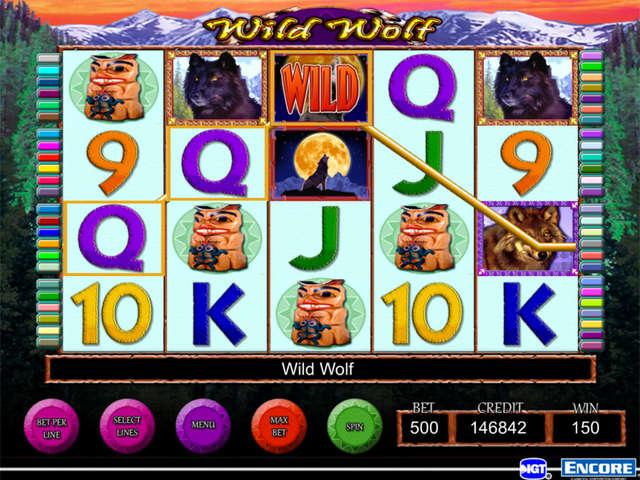 free casino slots wild wolf