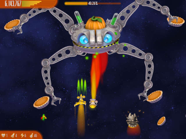 Play Chicken Invaders 4 - Ultimate Omelette Thanksgiving Edition