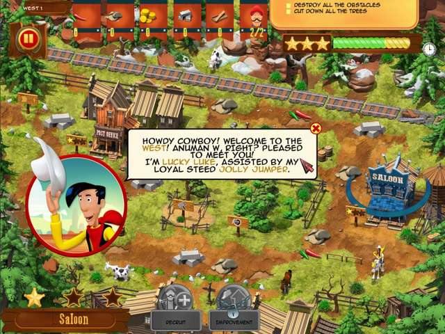 Play Lucky Luke - Transcontinental Railroad