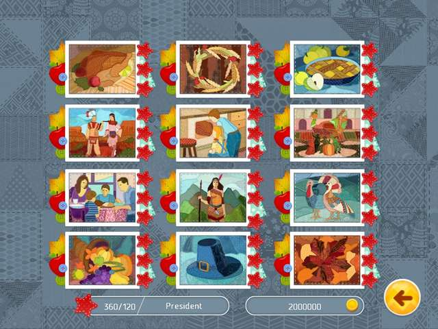 Thanksgiving Day Mosaic Gamehouse
