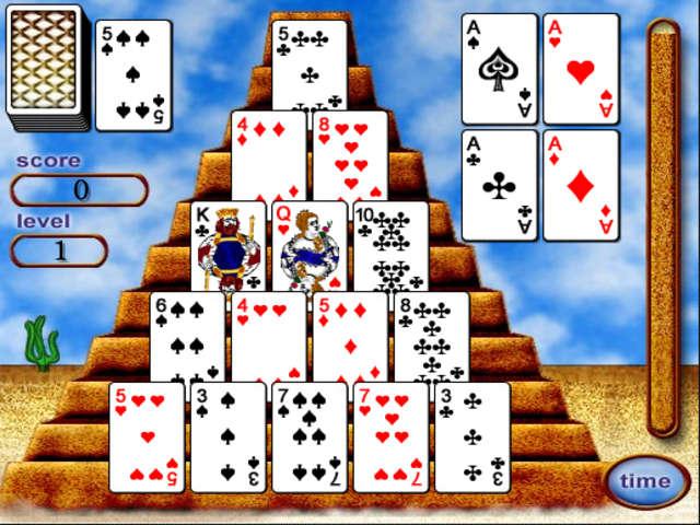 egyptian pyramid card game