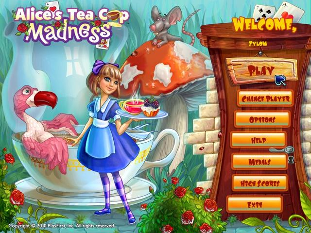 Play Alice's Tea Cup Madness