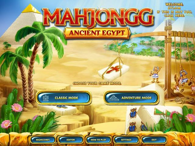 Play Mahjongg - Ancient Egypt