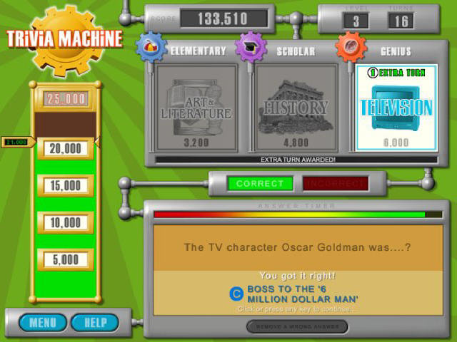 Play Trivia Machine