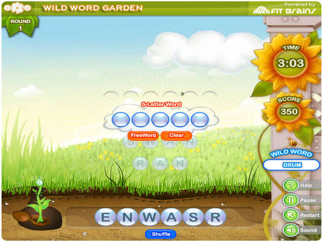screenshot 1 - Letter Garden Game