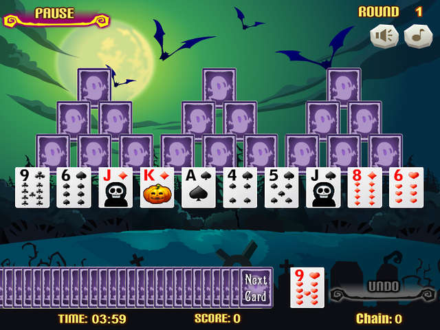 tripeaks aloha gamehouse solitaire 1