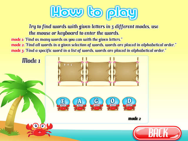 Words On The Beach Online Free Game Gamehouse
