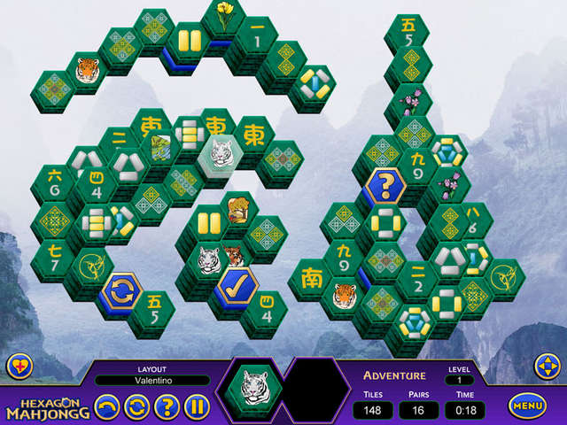 Play Hexagon Mahjongg