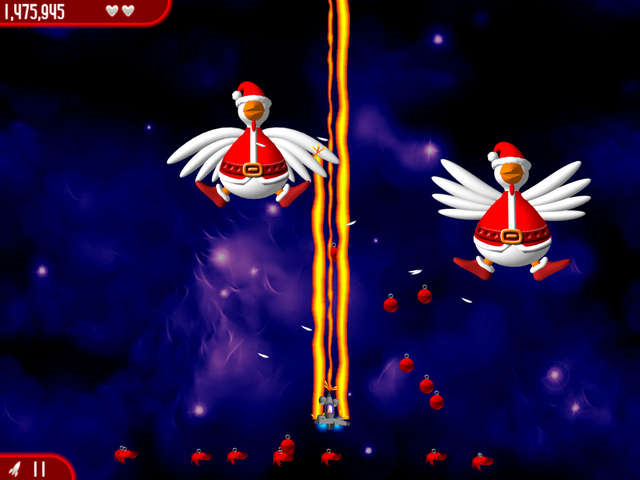 Play Chicken Invaders 2 - The Next Wave Christmas Edition