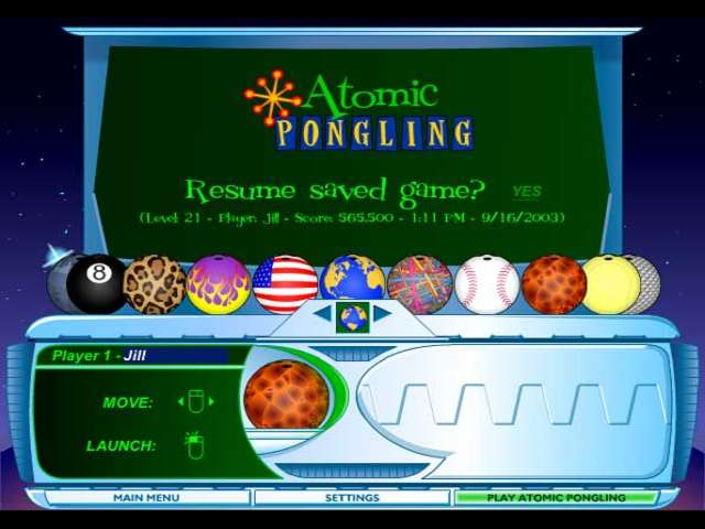 Play Atomic Pongling