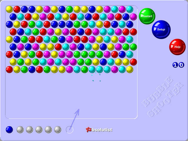 play game bubble shooter