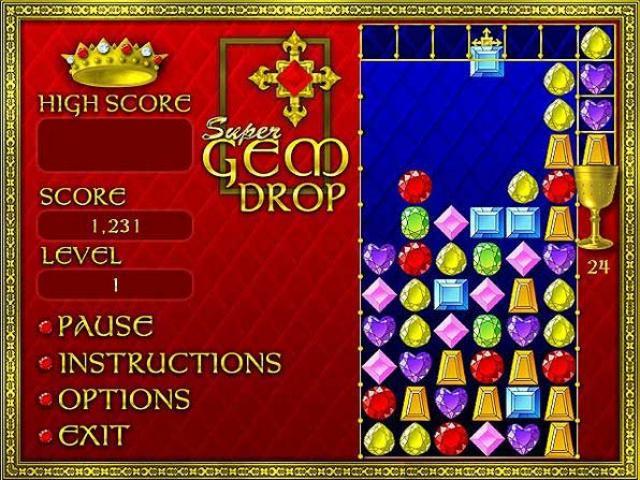 Gem Drop Game