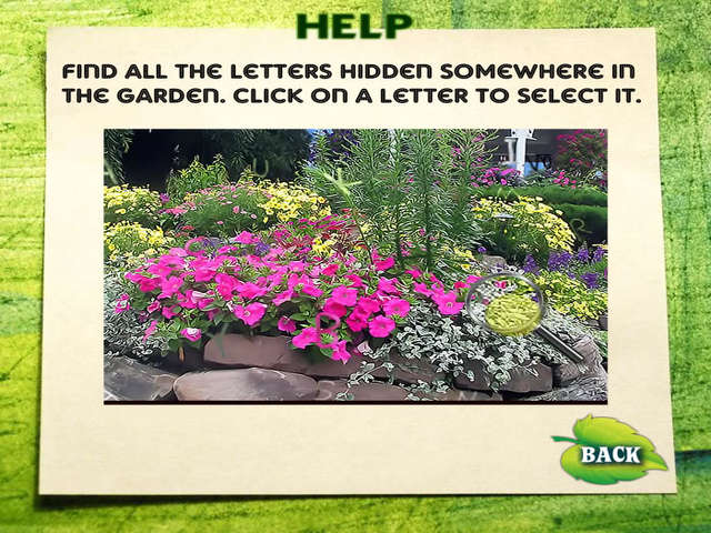 Hidden Alphabet Flower Garden line Free Game