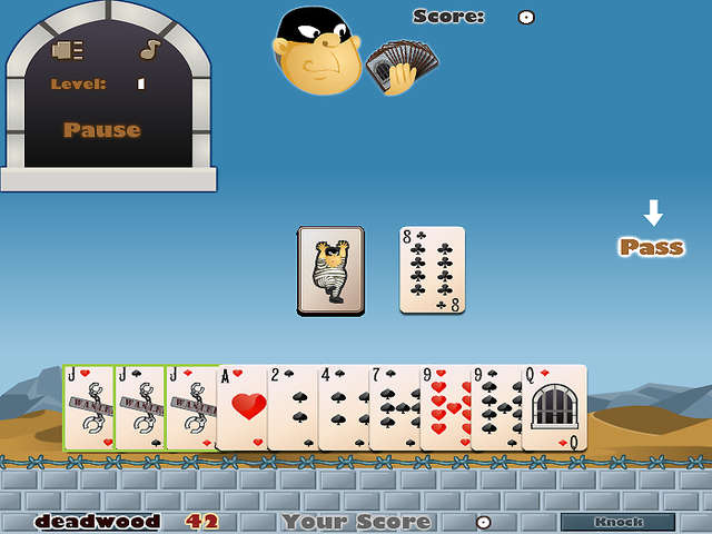 gin rummy online free single player