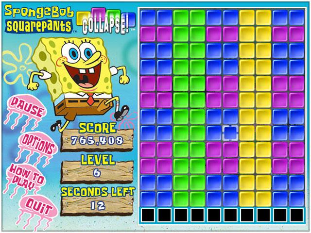 SpongeBob SquarePants Collapse! | GameHouse